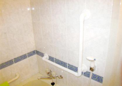 屋内手すり(浴室)設置例