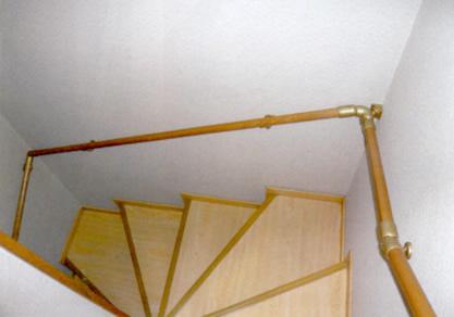 屋内手すり(階段)設置例